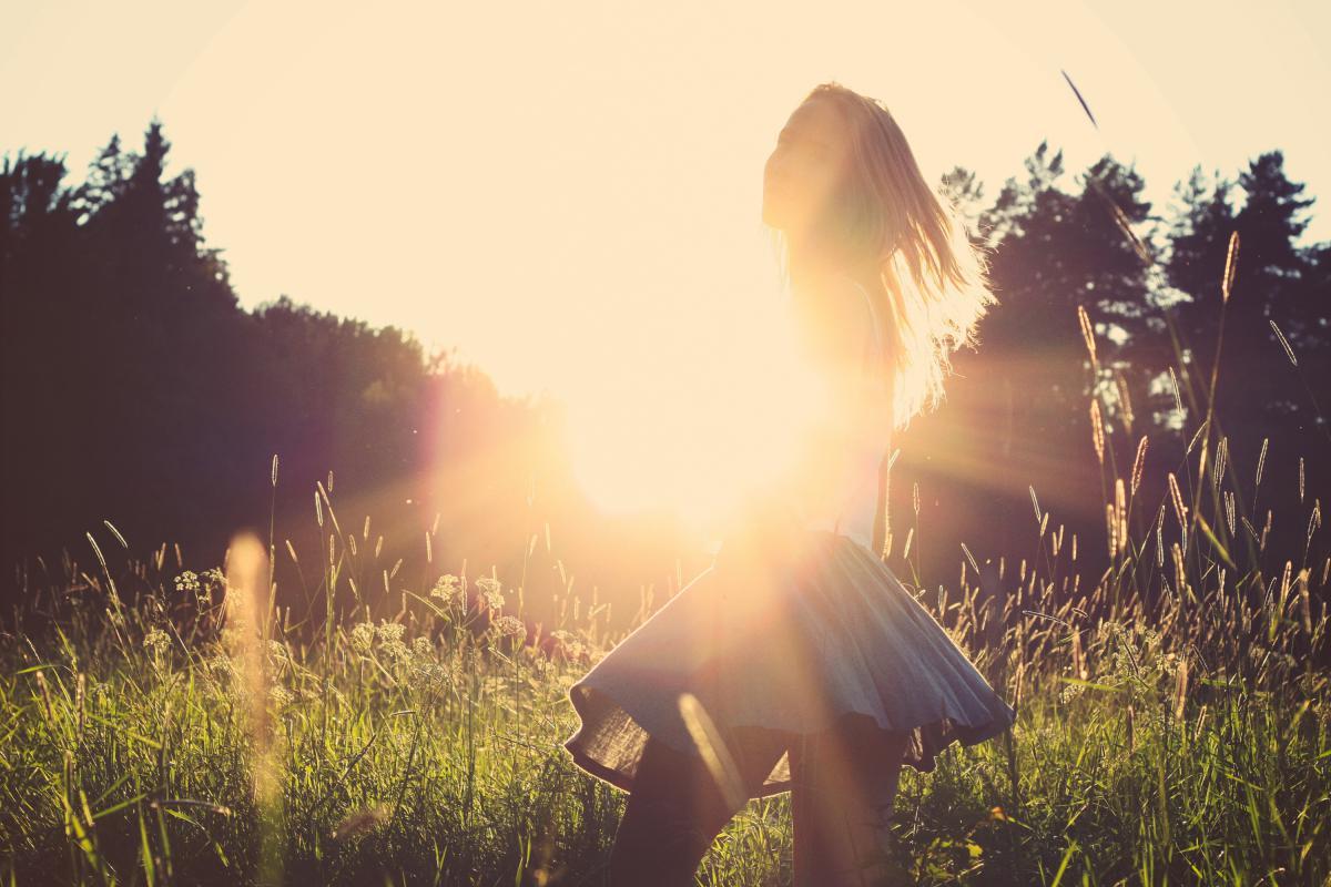 Sunset sunshine girl  #16557