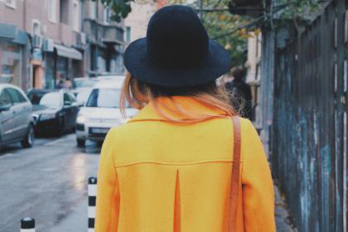 yellow coat hat