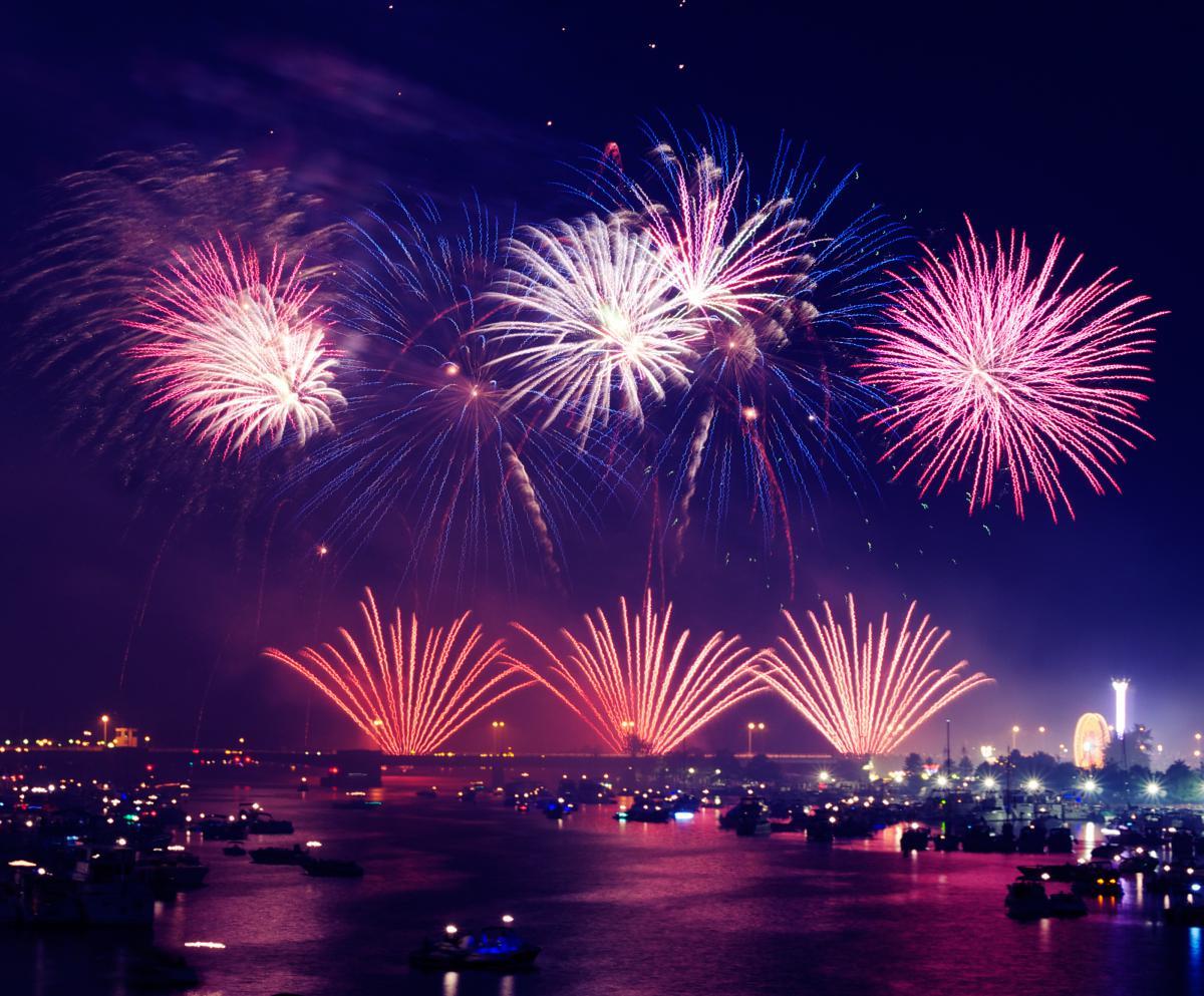 Fireworks lights show  #17093