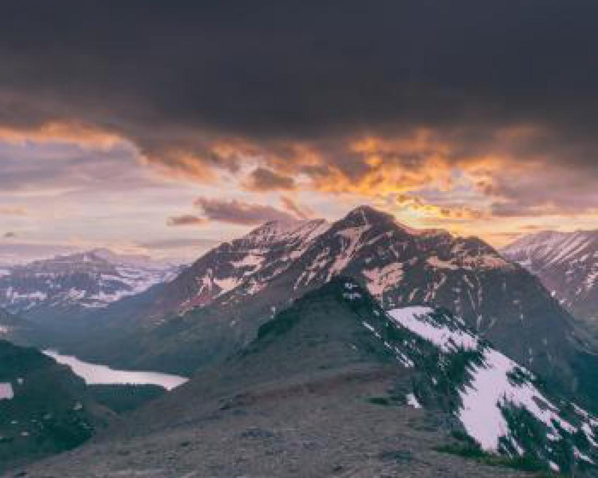 mountains peaks summit