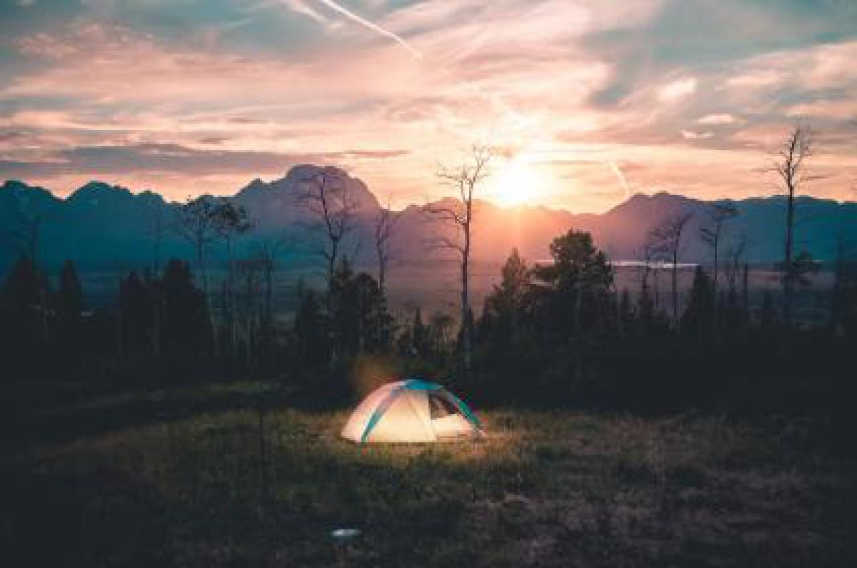 Tent camping outdoors  #17384