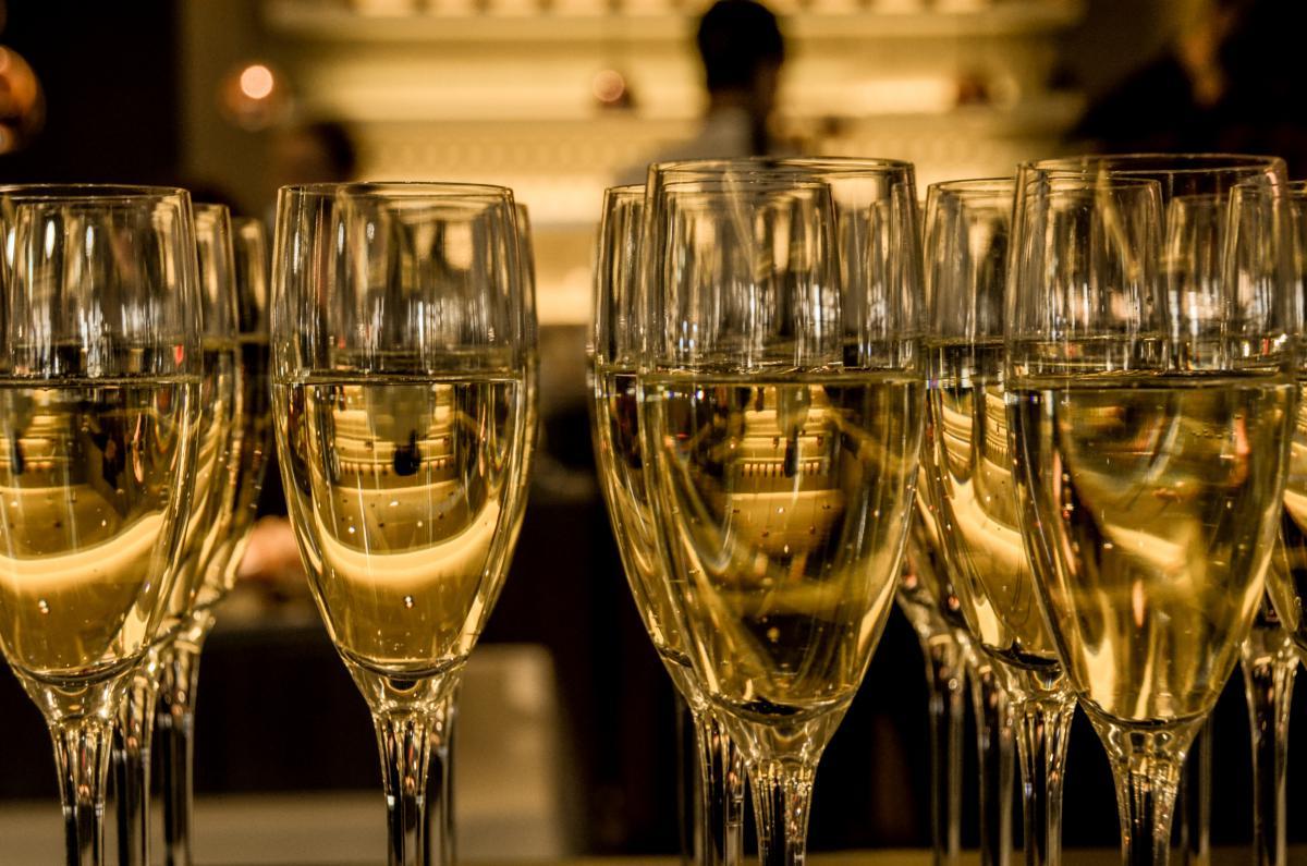 champaign sparkling wine glasses