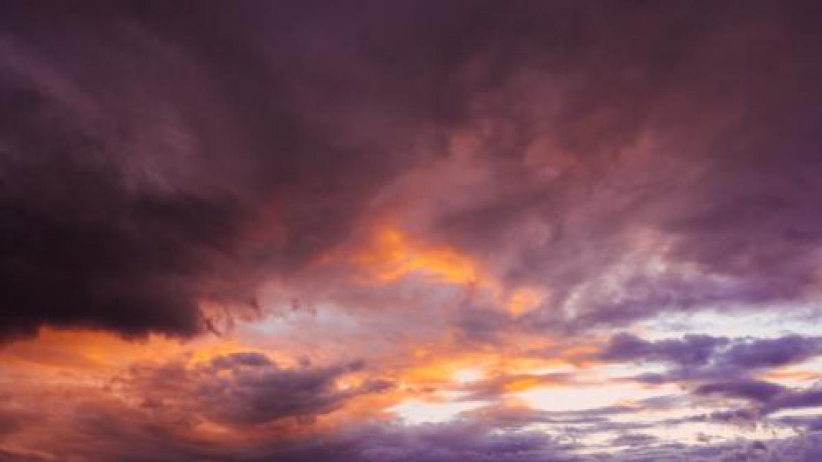 sunset dusk sky