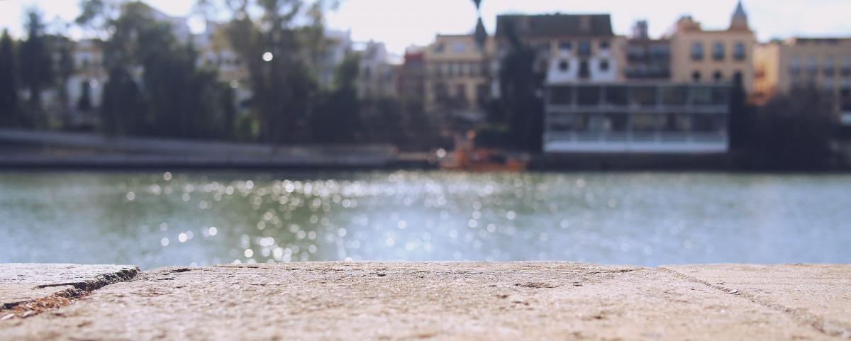 concrete ground river
