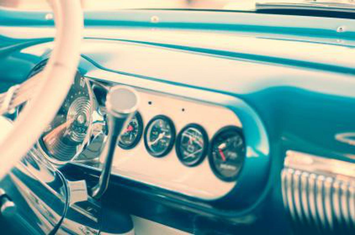 car dashboard interior