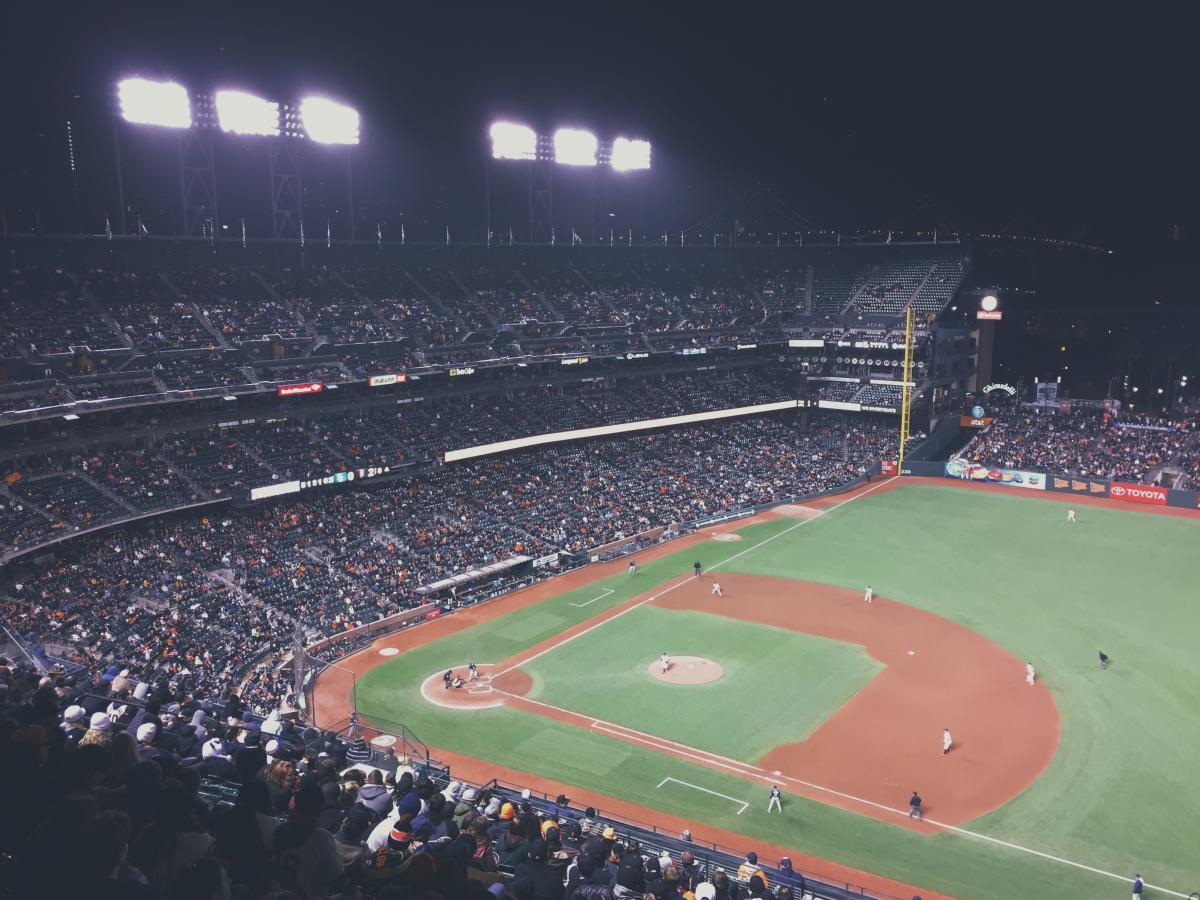 Baseball stadium field  #18012