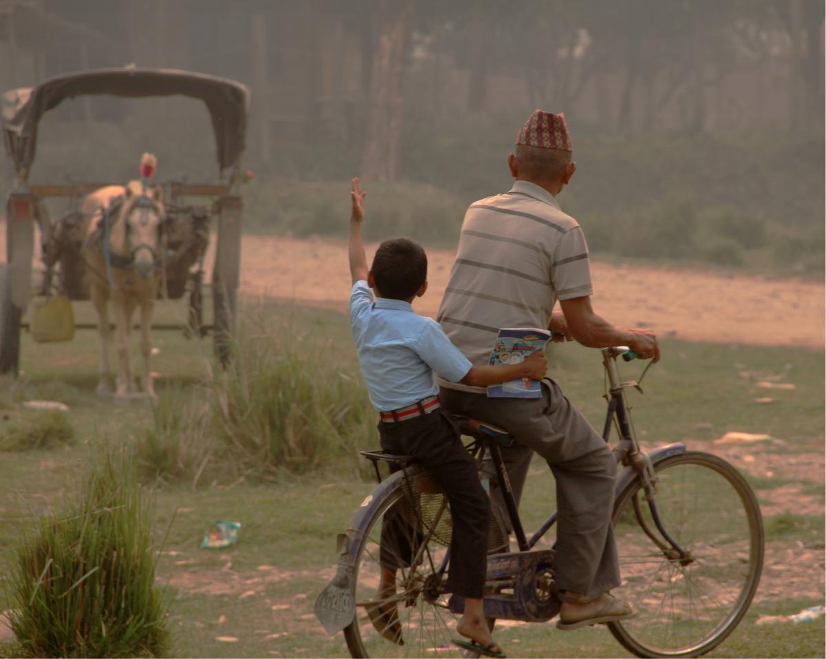 Bicycle Man Cowboy