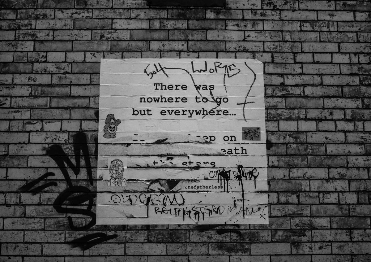 poster bricks wall