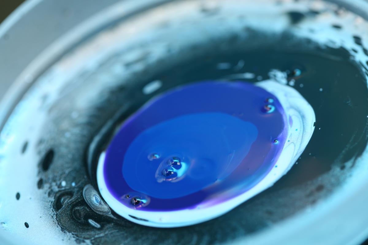 blue paint art