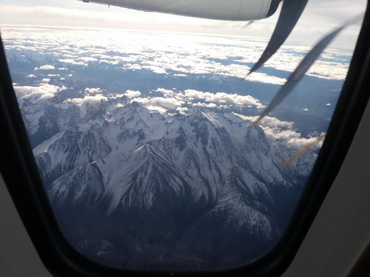 Windshield Snow Mountain