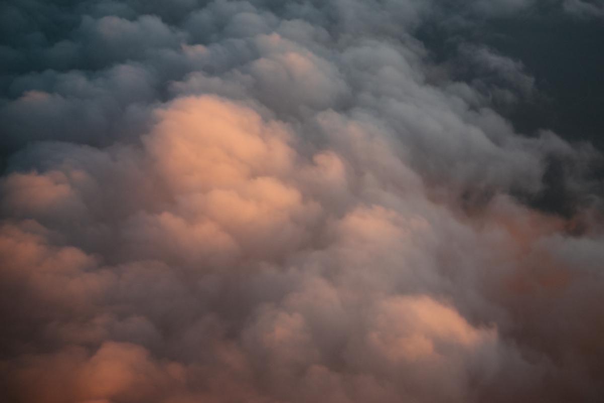 storm clouds sunset
