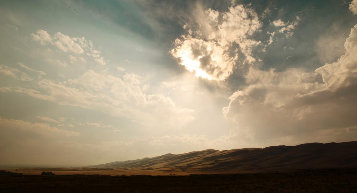 sky clouds sunlight