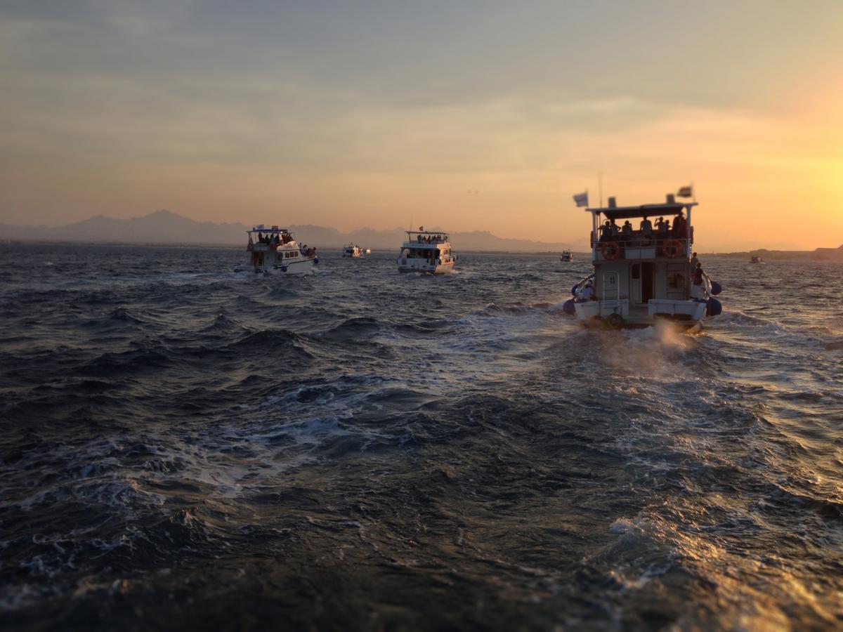 boats ocean sea