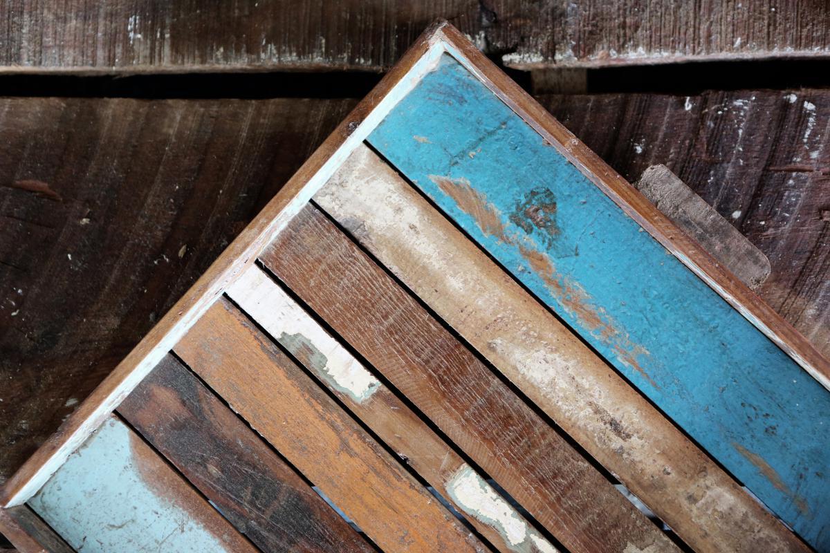 wood paint palette