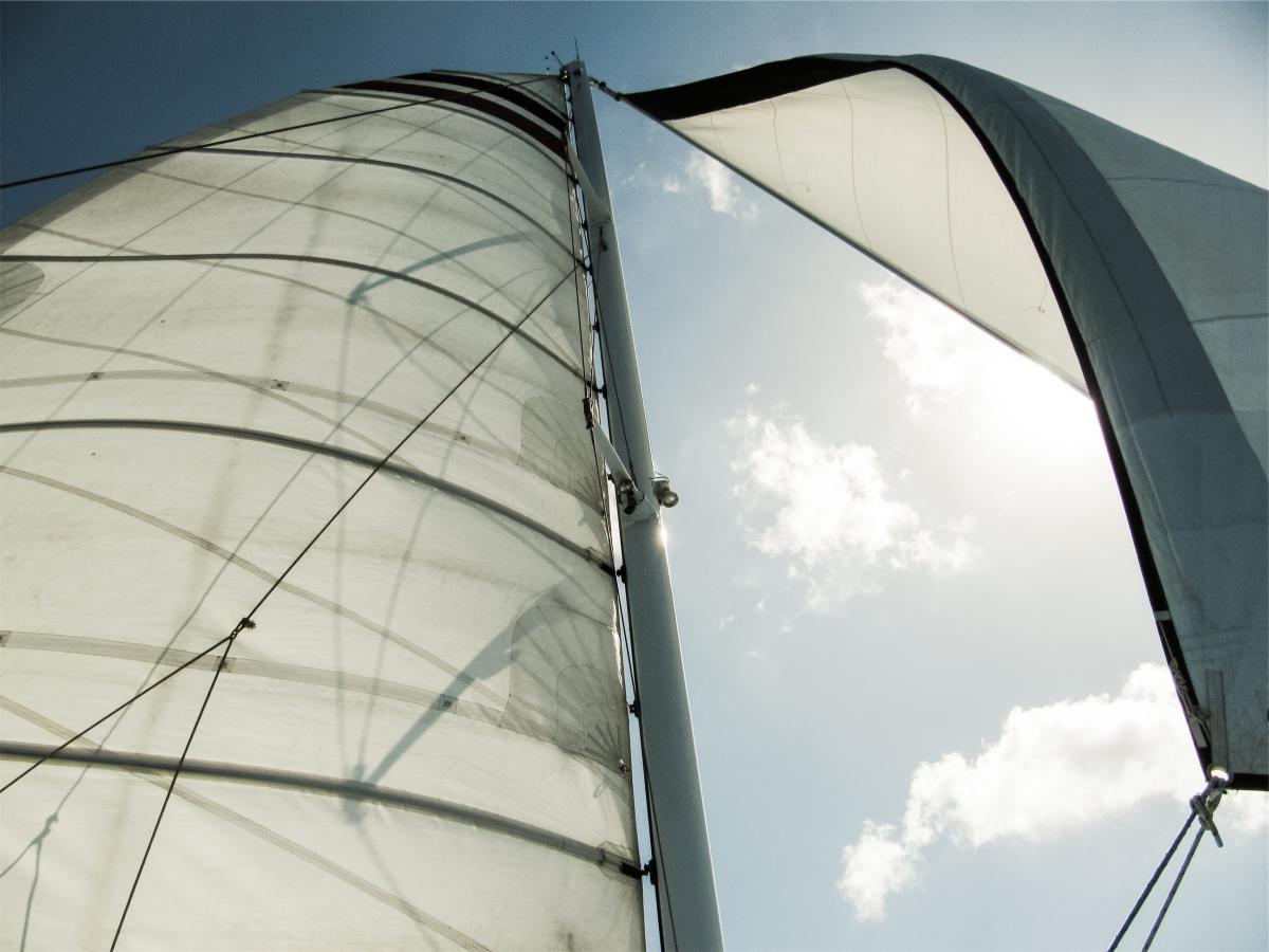 sailboat sails sky