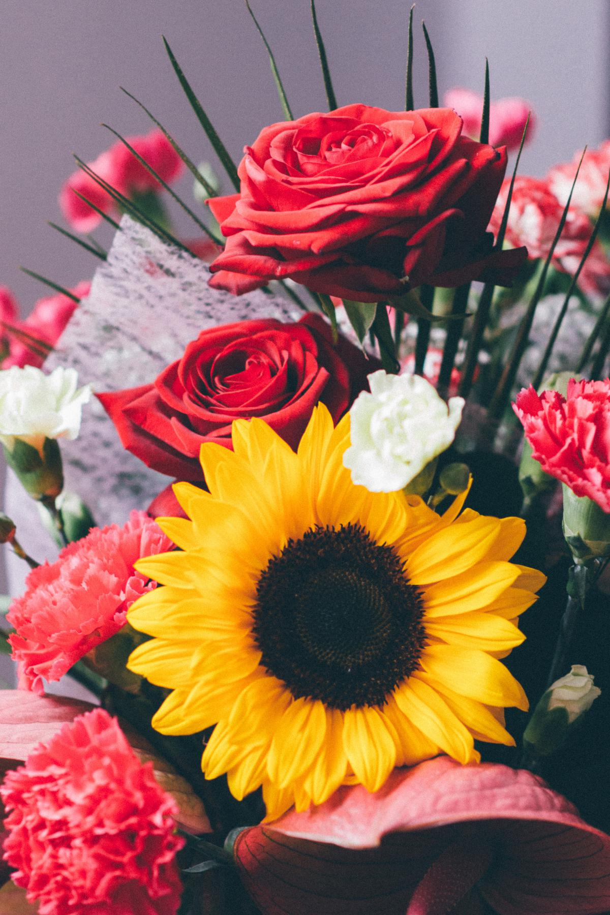 Bouquet flowers roses  #21336