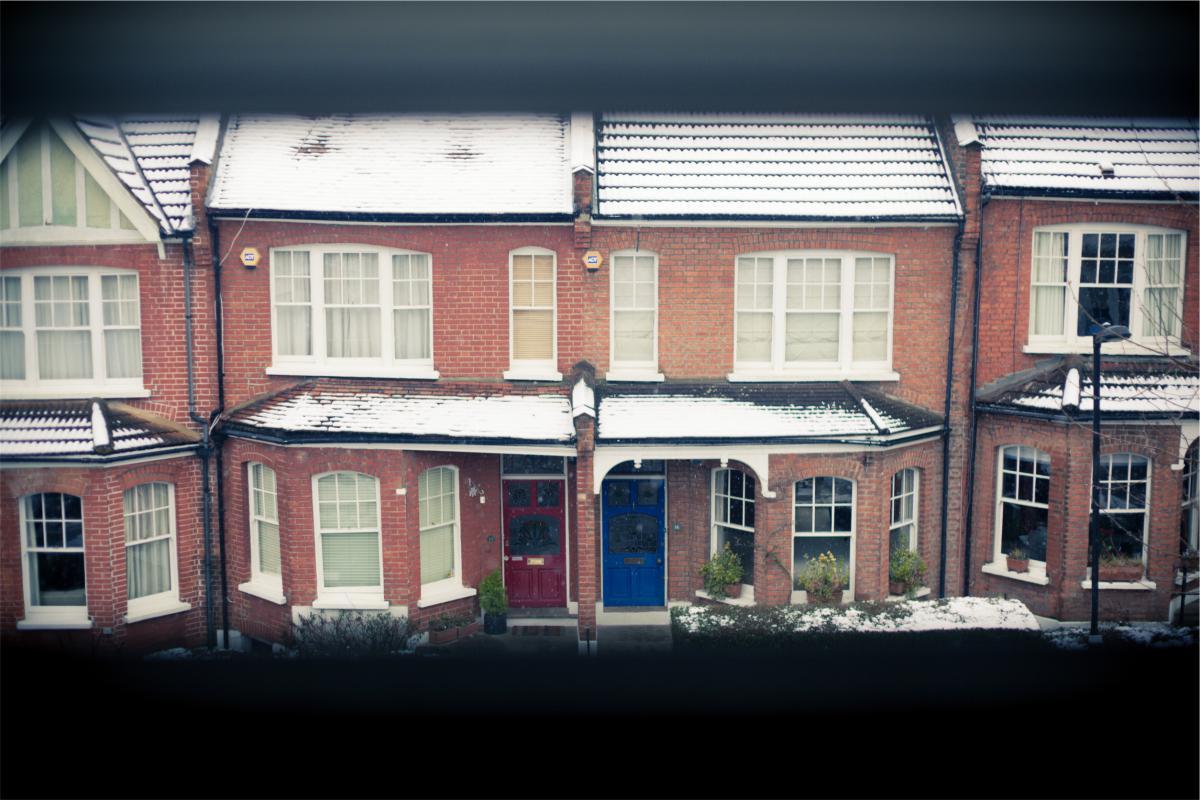 houses bricks windows