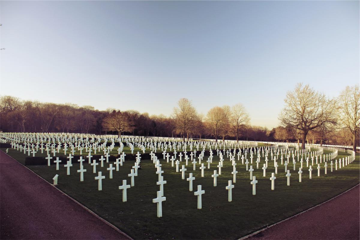 cemetery crosses tombstones