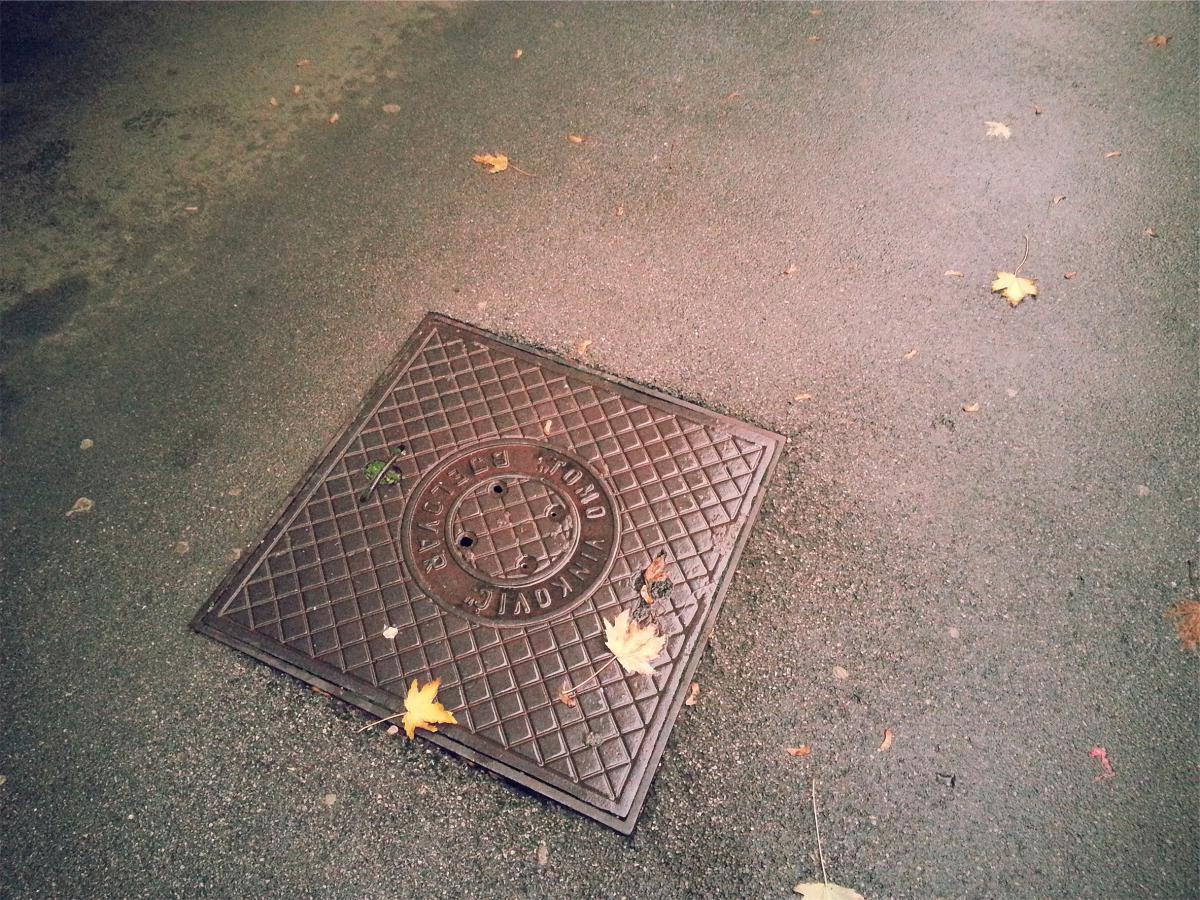 sewer pavement ground