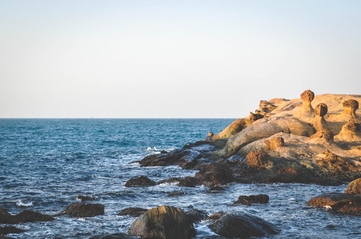 Ocean water rocks  #23488