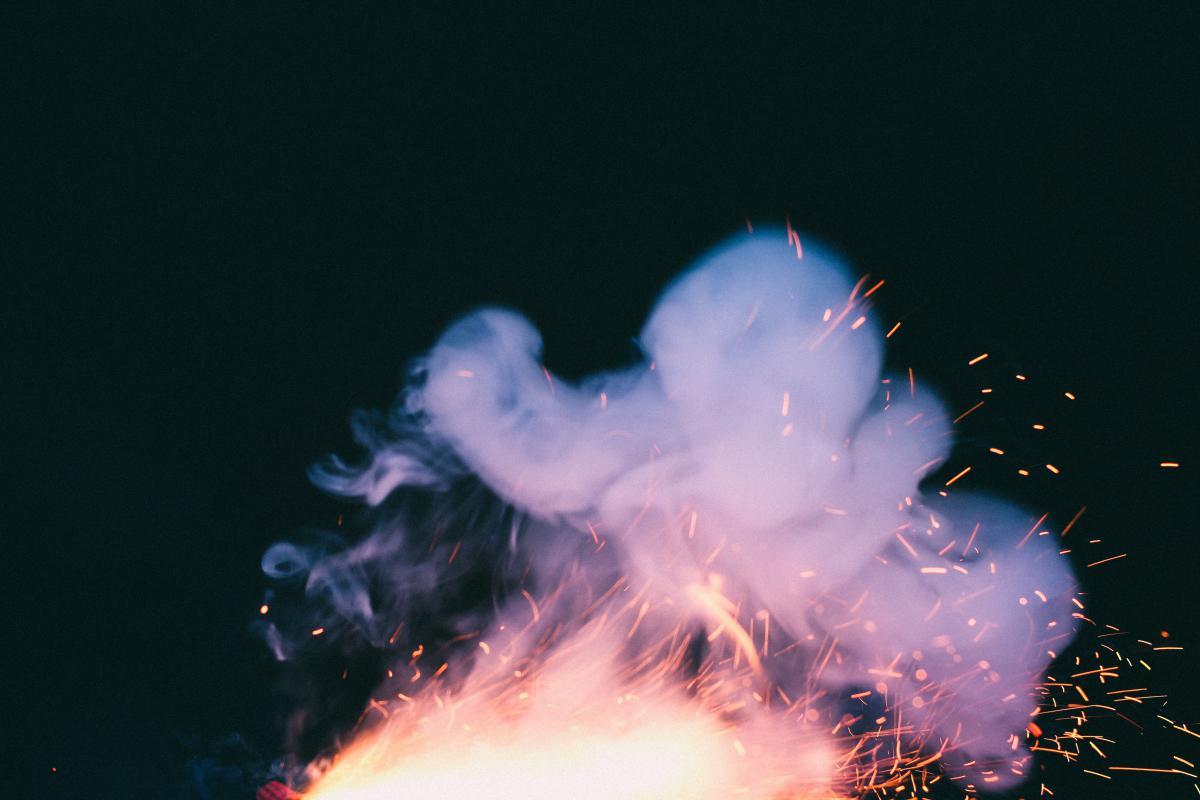 smoke sparks fireworks