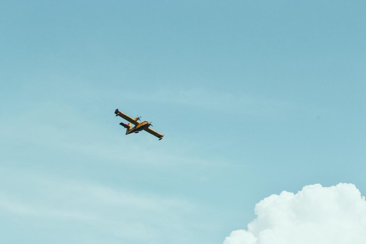 airplane flying sky