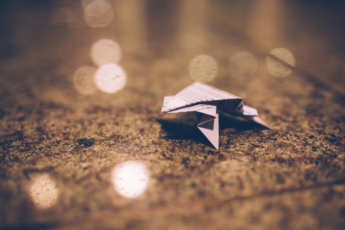 Origami paper blurry #24199