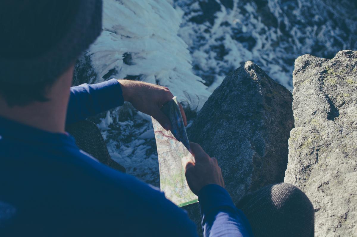guy man hiking