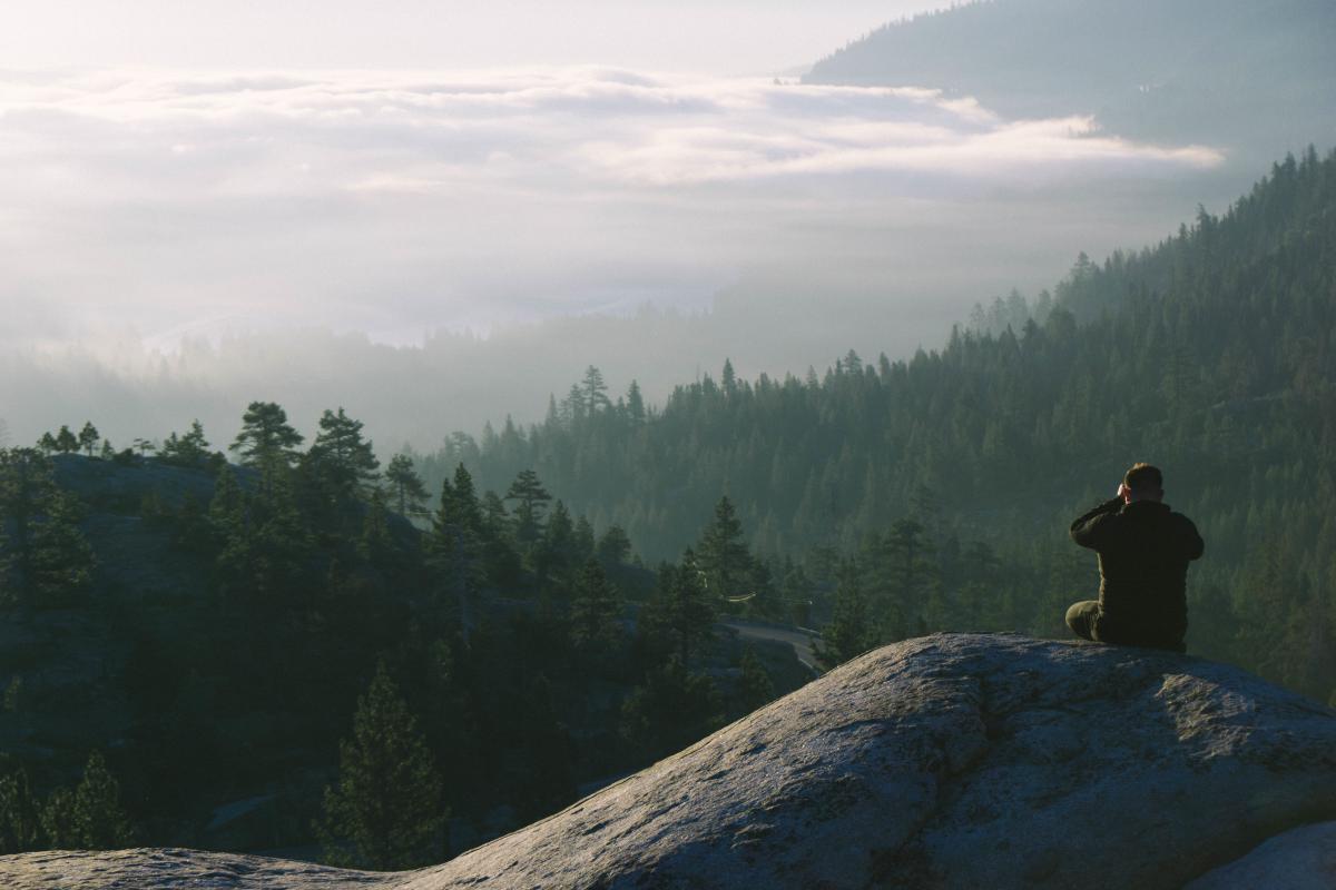 hiking trekking guy
