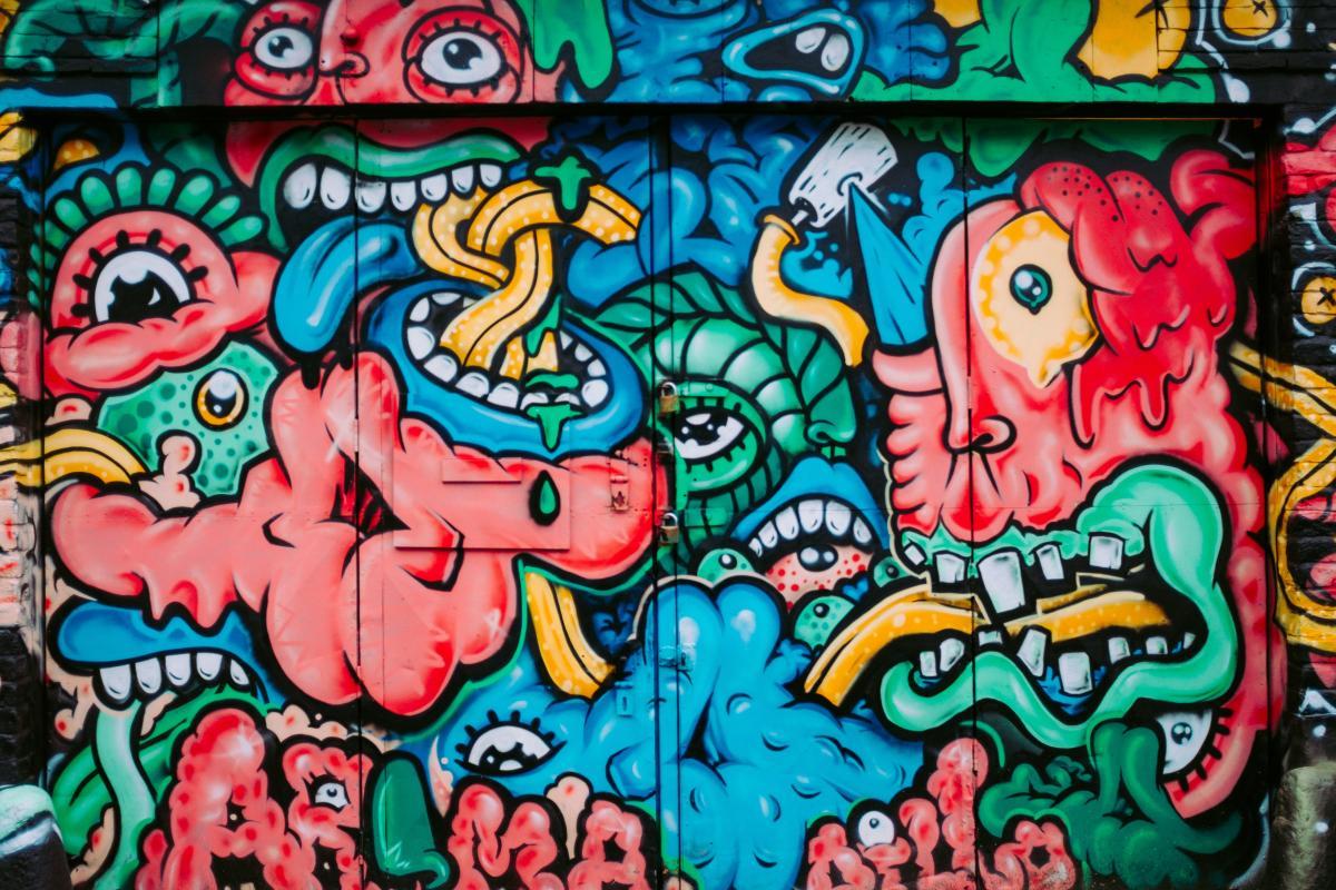 Graffito Decoration Pinball machine