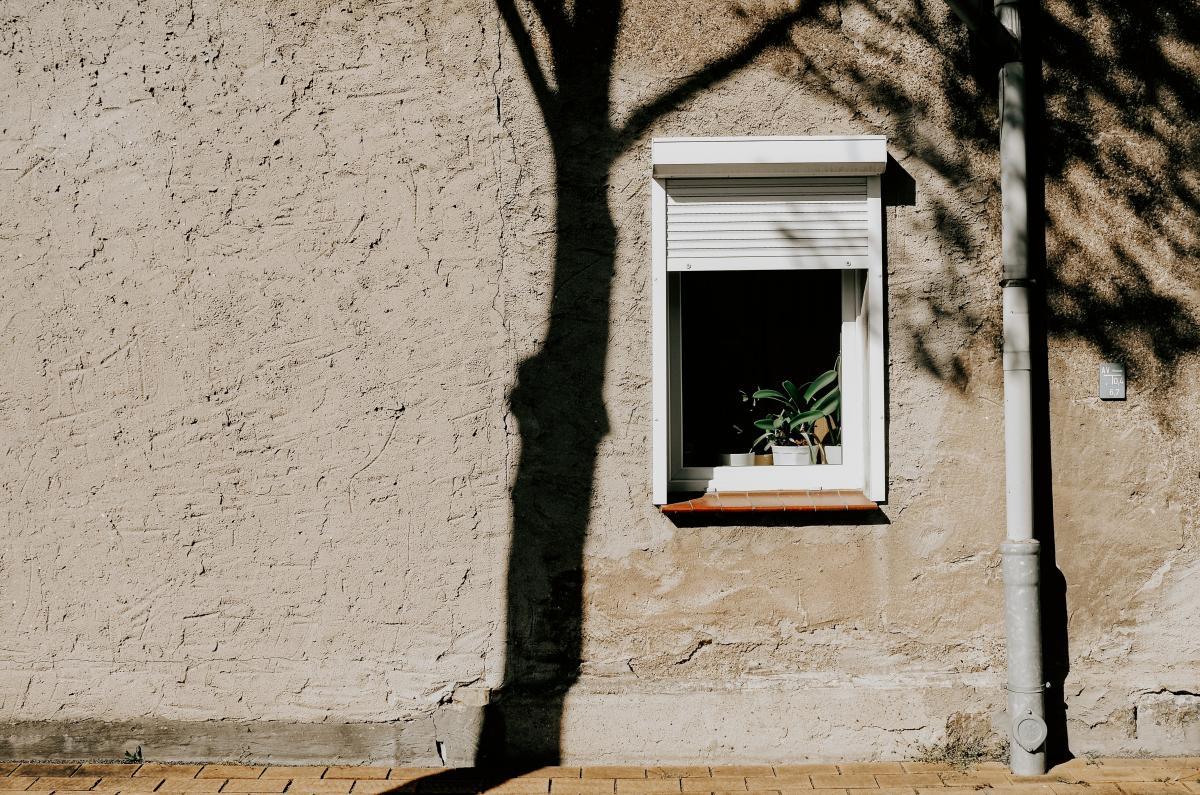 Stucco Brick Window
