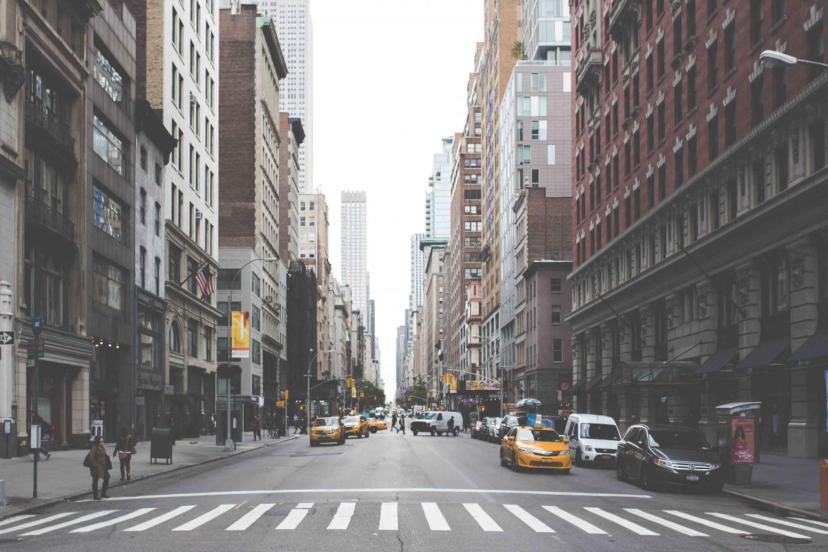 New york city city street cars