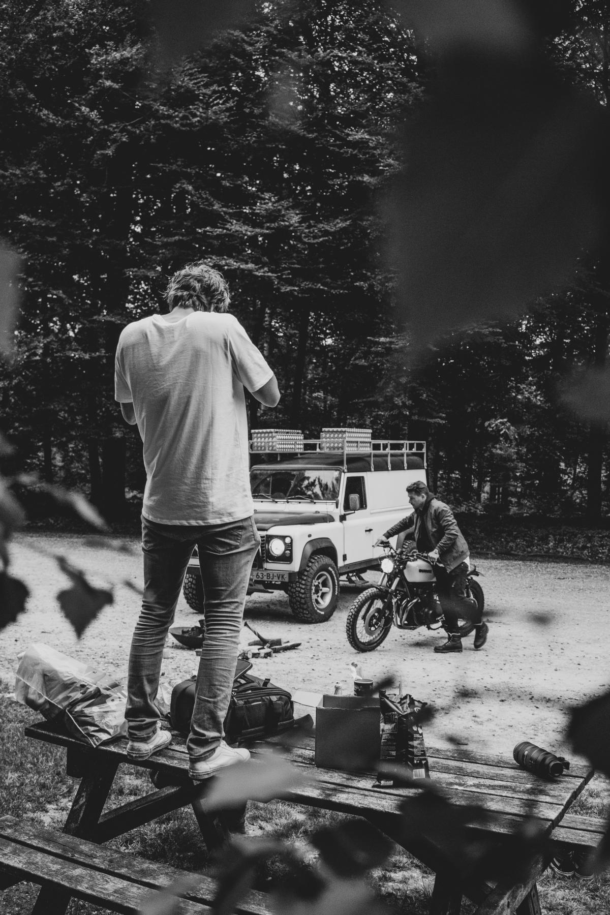 Wheeled vehicle Outdoors Man