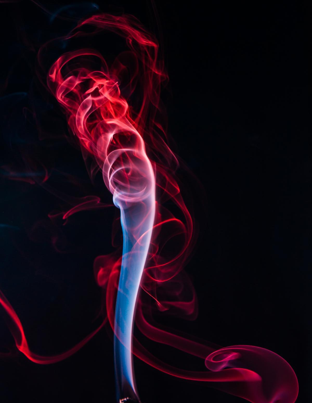 Red Smoke Illustration