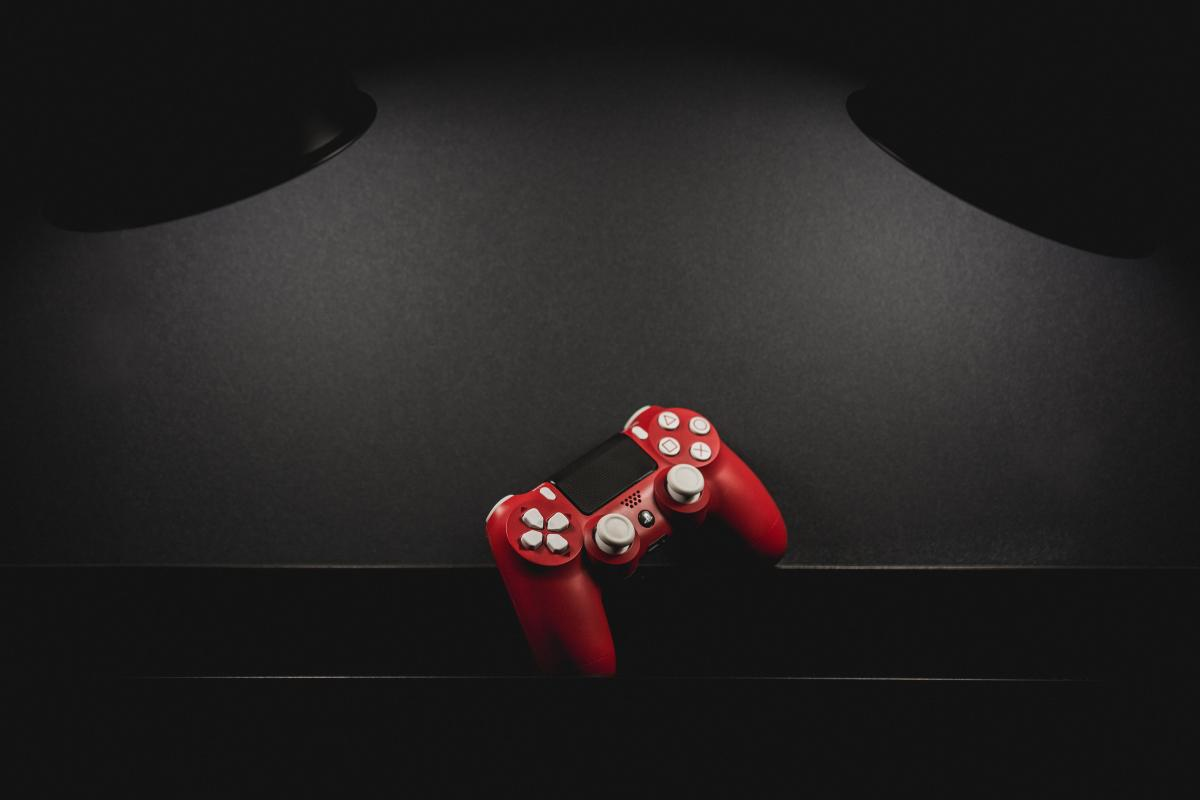 Red and White Sony Dualshock 4 Wireless Controller