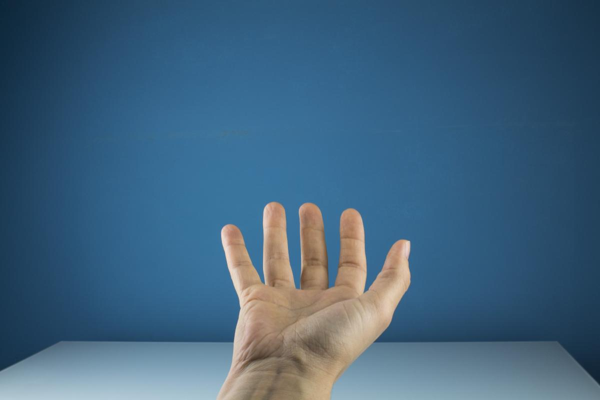 Person Showing Right Hand