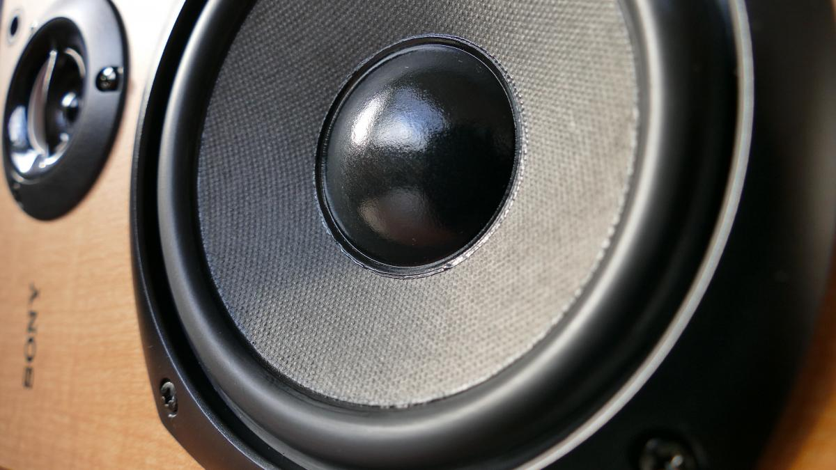 Closed Up Photography of Brown Wooden Framed Sony Speaker #34814