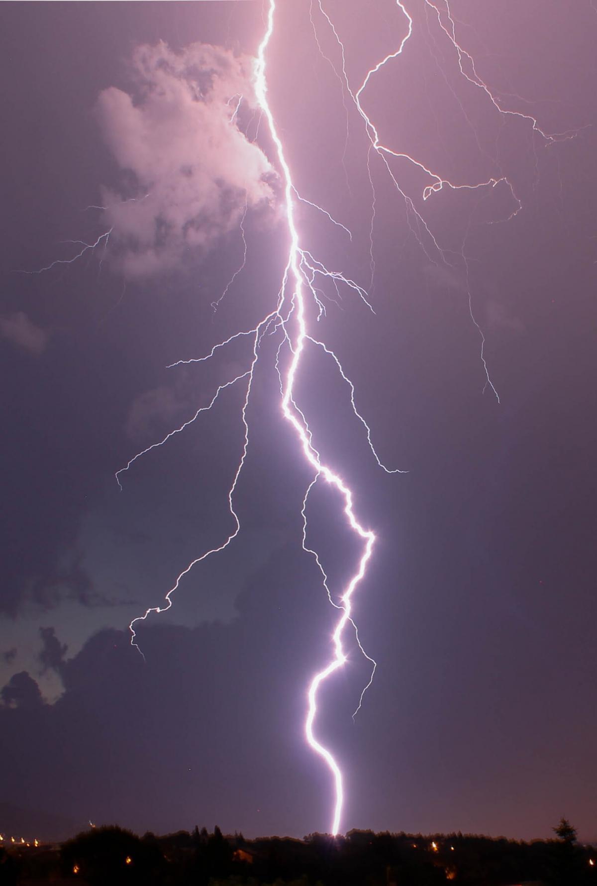 Lightning Light Night