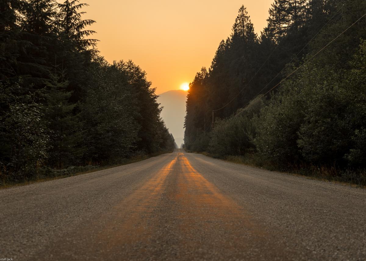 Asphalt Road Sun