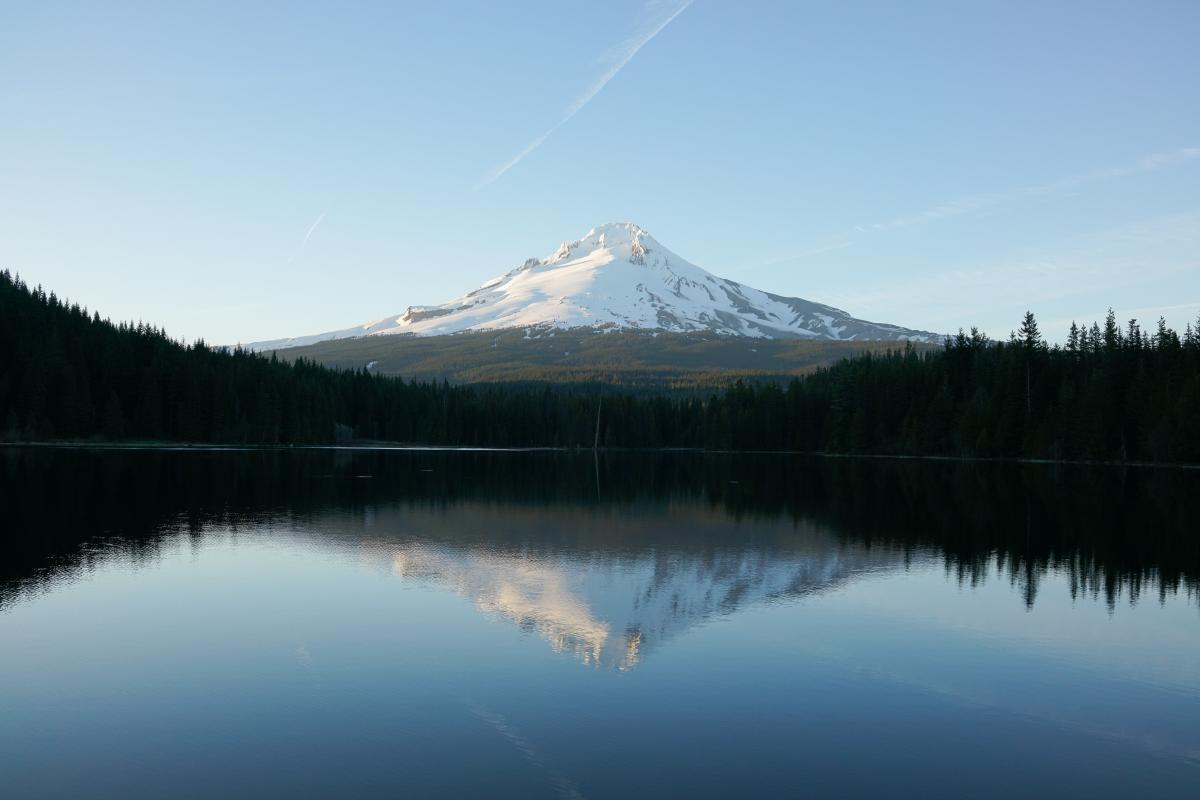Mountain Lake Volcano