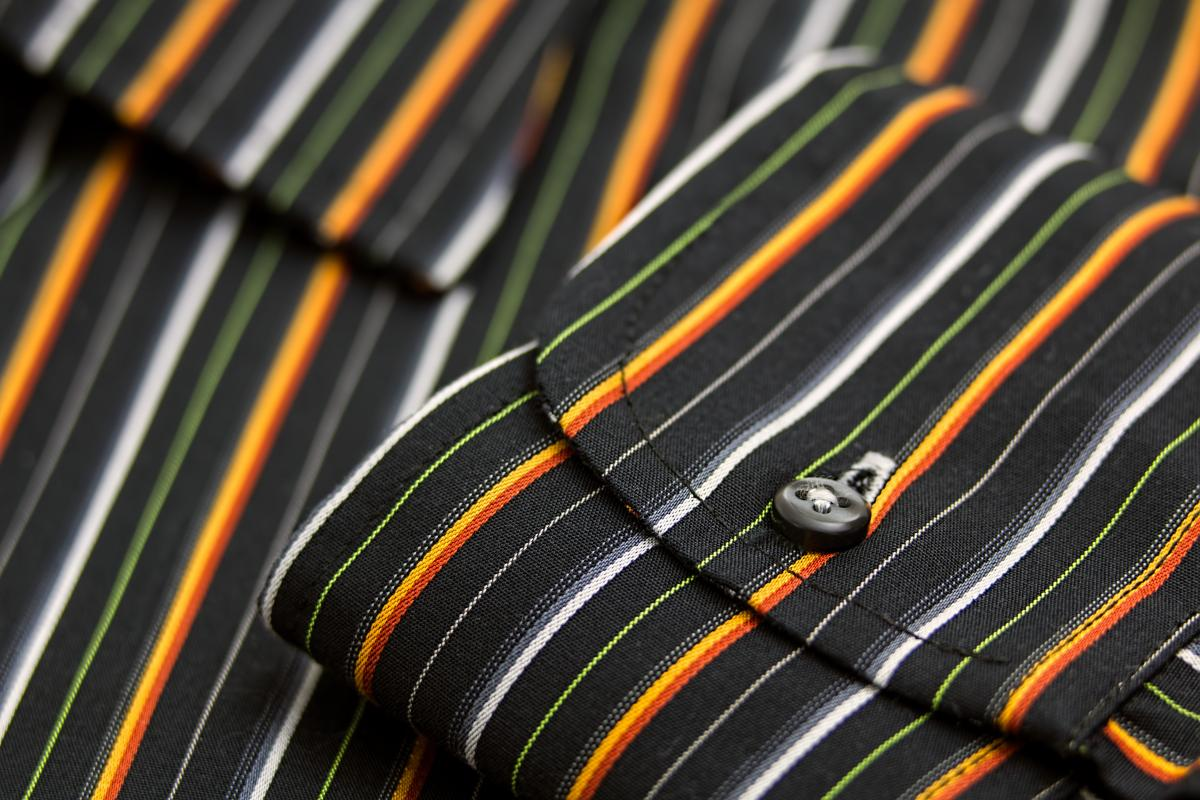 Black White Green Yellow and Orange Pinstripe Pocket #37299