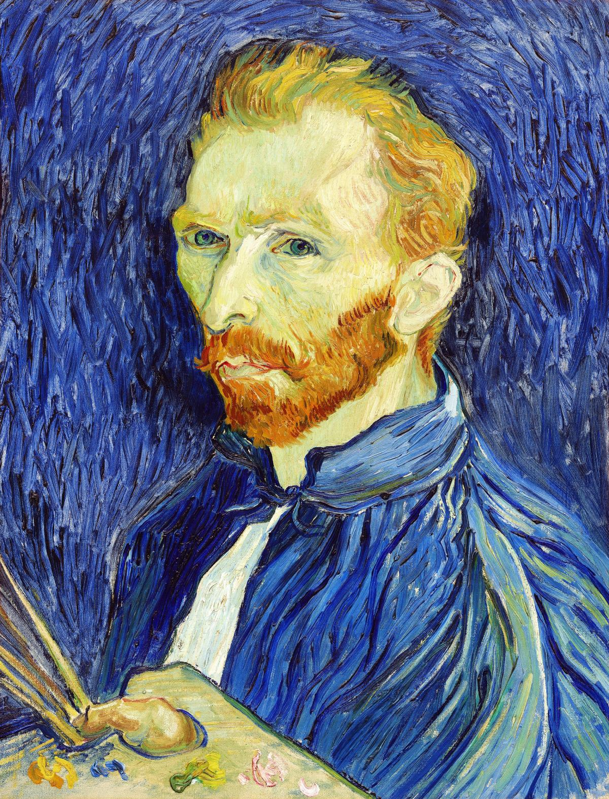 Self-Portrait (1889) by Vincent Van Gogh. Original from The National Gallery of Art.