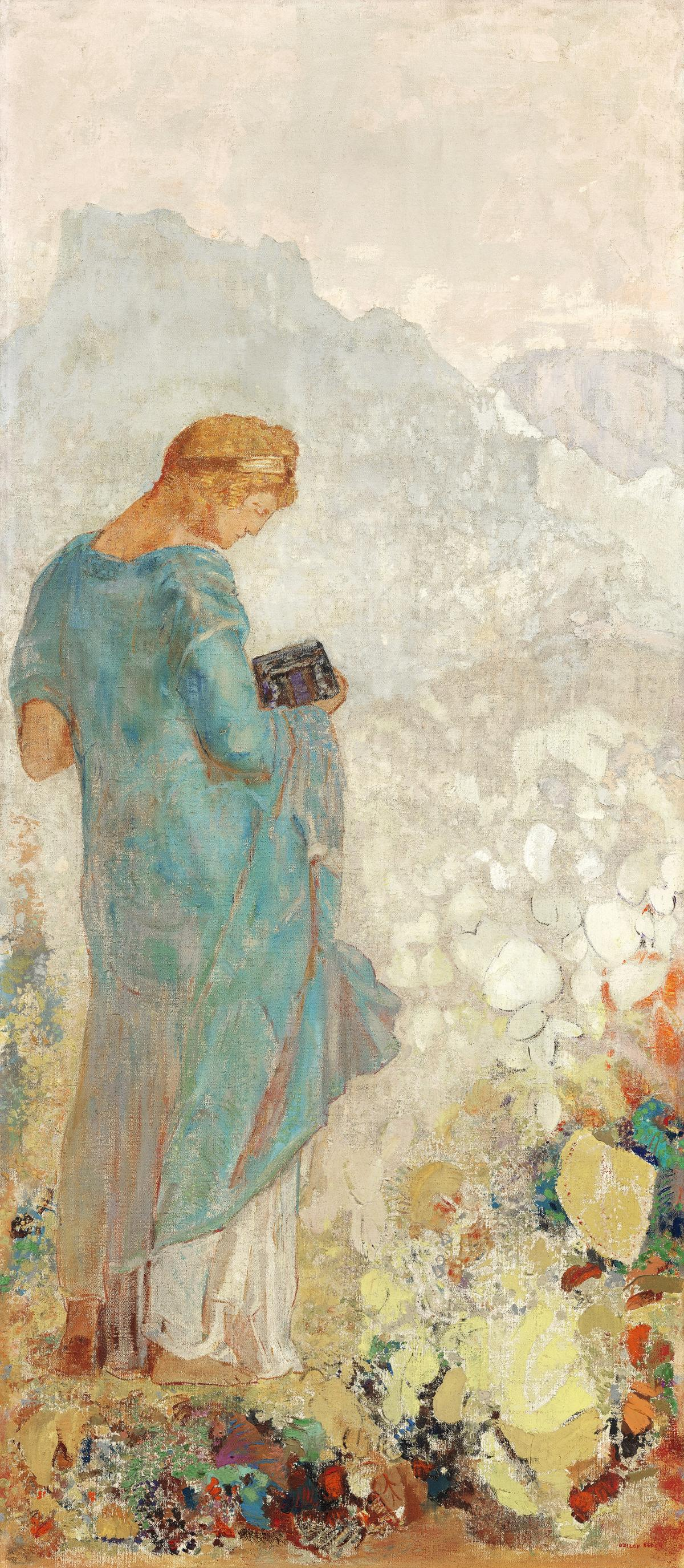 Pandora (1910—1912) by Odilon Redon. Original from the National Gallery of Art.