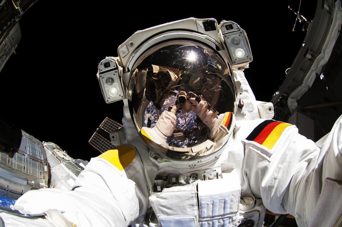 NASA astronauts in space - Oct 7th, 2014. Original from NASA.