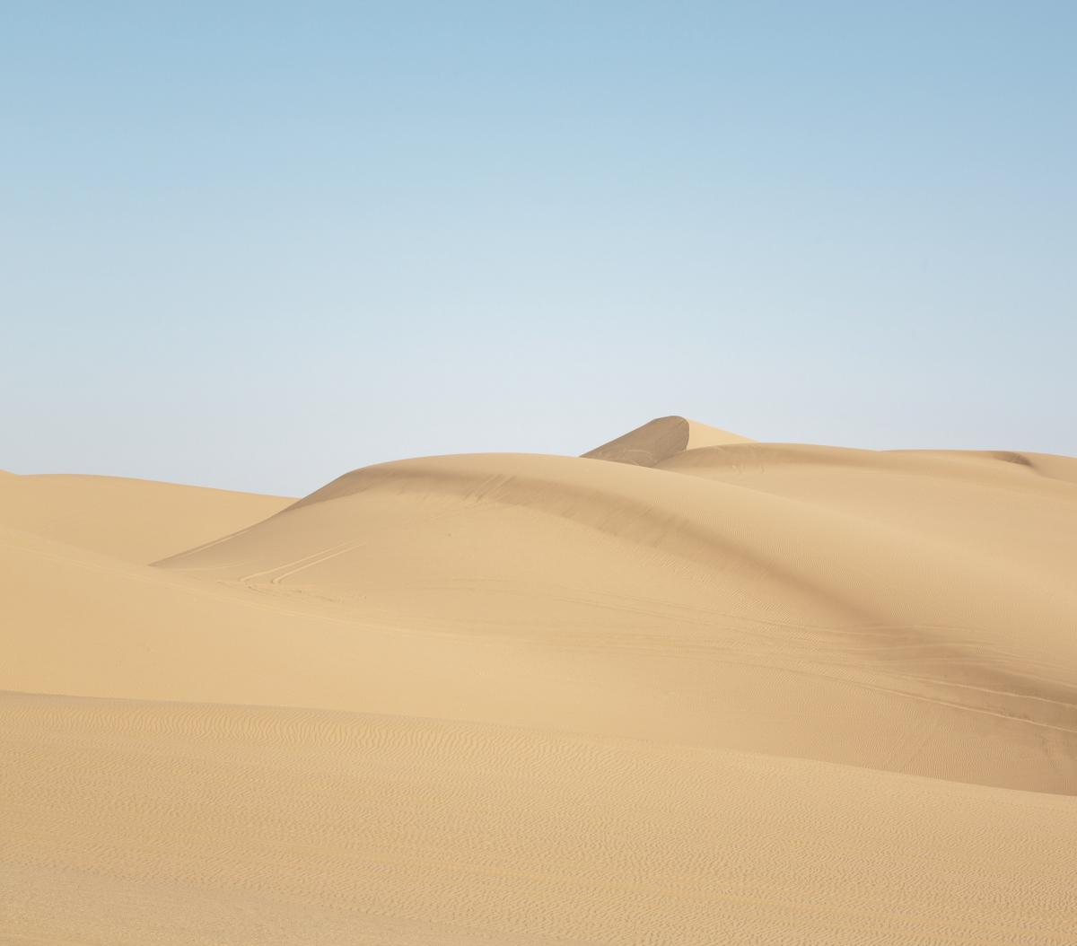 Sand dunes in Southern California. Original image from Carol M. Highsmith's America, Library of Congress collection.