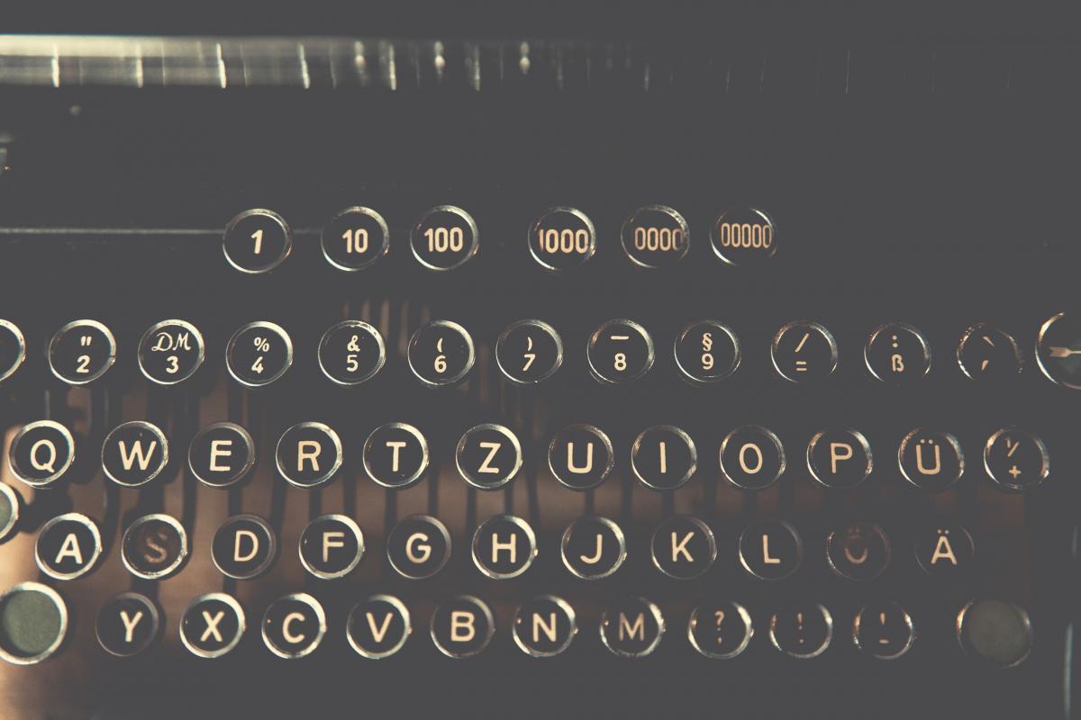 Vintage typewriter keys #386084