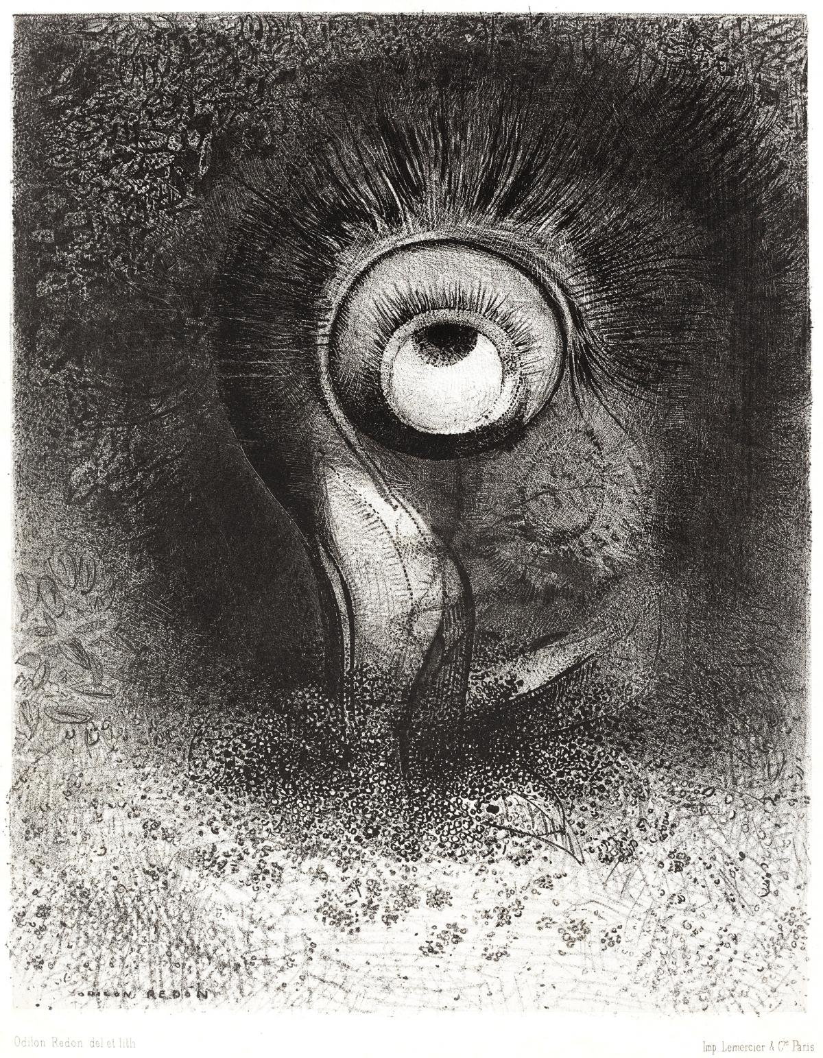 There Was Perhaps a First Vision Attempted by the Flower (1883) by Odilon Redon. Original from the National Gallery of Art.  #388093