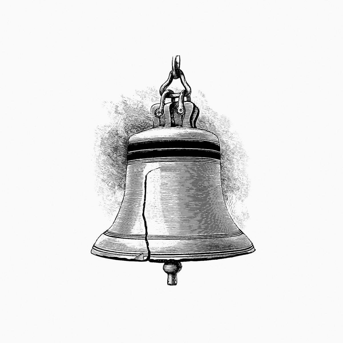 Liberty Bell from Elements of Geography published by Ginn & Co. (1898). Original from the British Library.  #388908