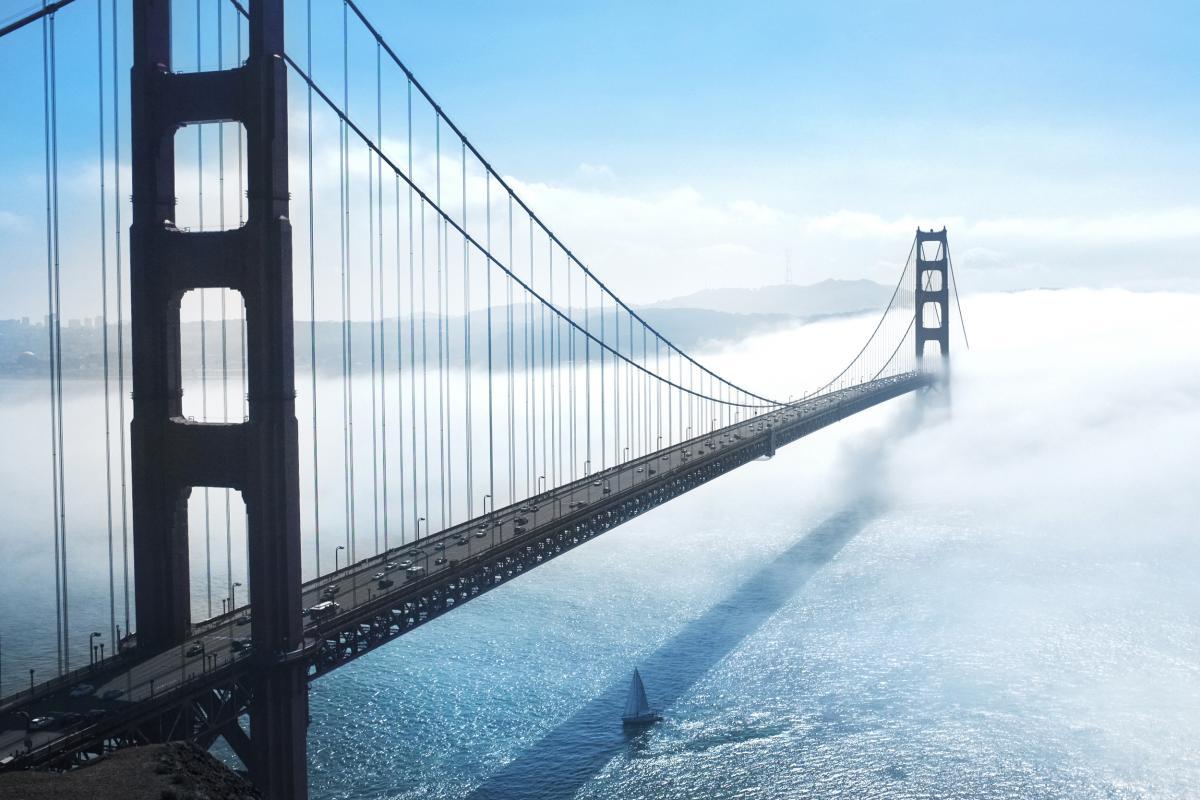 Golden gate bridge river bridge suspension bridge #38908
