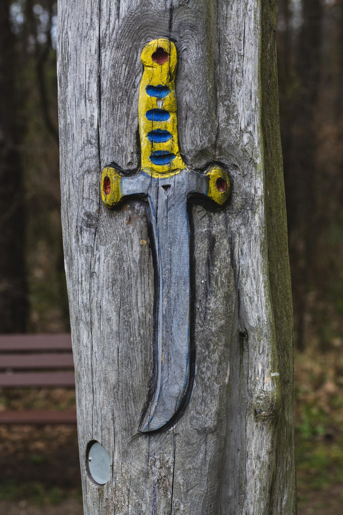 Sword carving on a tree #391504